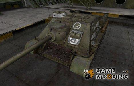 Зоны пробития контурные для СУ-100 for World of Tanks