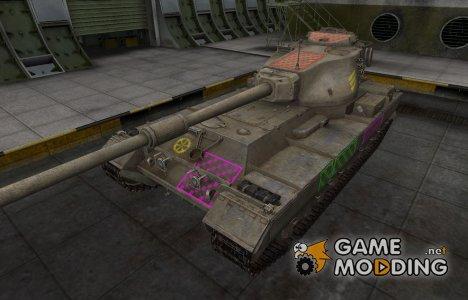 Качественные зоны пробития для FV215b for World of Tanks