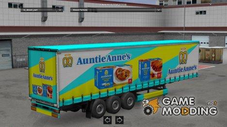 Auntie Anne's Trailer HD для Euro Truck Simulator 2