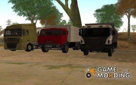 Пак грузовиков для GTA San Andreas