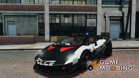 Lamborghini Sesto Elemento 2011 Police v1.0 для GTA 4