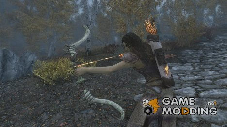 Mammoth Ivory Bows and Arrows for TES V Skyrim