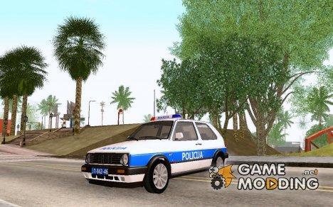 Volkswagen Golf Mk2 Policija для GTA San Andreas