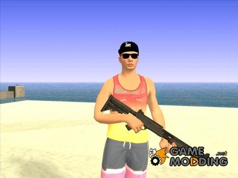 Skin GTA V Online в летней одежде for GTA San Andreas