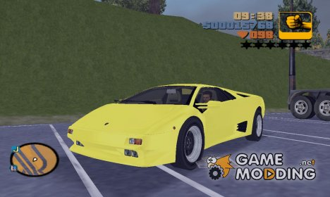 "Lamborghini Diablo VTTT ""Black Revel"" for GTA 3"