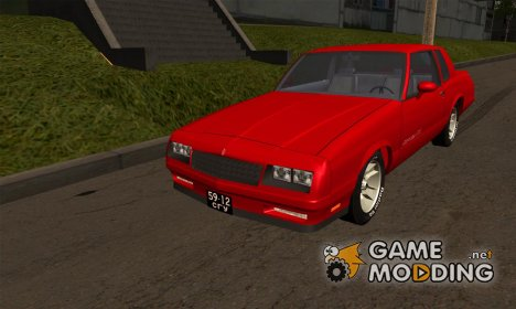 Chevrolet Monte Carlo SS 1986 Import version (USA to USSR) для GTA San Andreas
