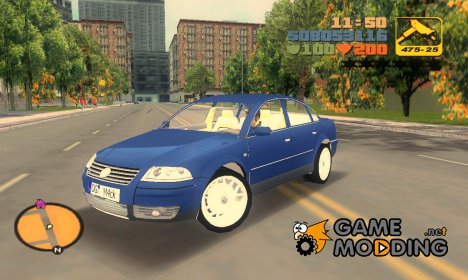Volkswagen Passat W8 for GTA 3