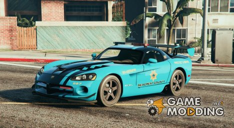 Dodge Viper SRT-10 ACR - Seacrest Police County for GTA 5
