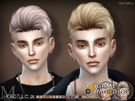 Sclub ts4 hair Michael for Sims 4