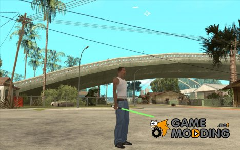 Lightsabre v2 Master(green) для GTA San Andreas