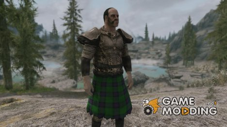 Clan Armstrong Tartan Companions Wolf Cuirass for TES V Skyrim