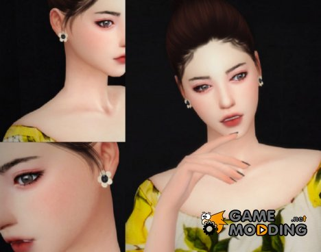 Серьги J.ESTINA для Sims 4