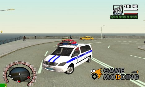 Mercedes-Benz Vito W639 Дежурная Часть для GTA San Andreas