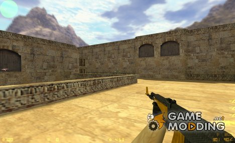 Carbon AK47 with Golden Wood Parts for Counter-Strike 1.6