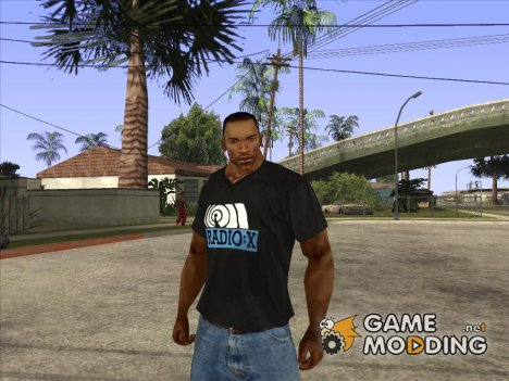 CJ в футболке (Radio X) for GTA San Andreas