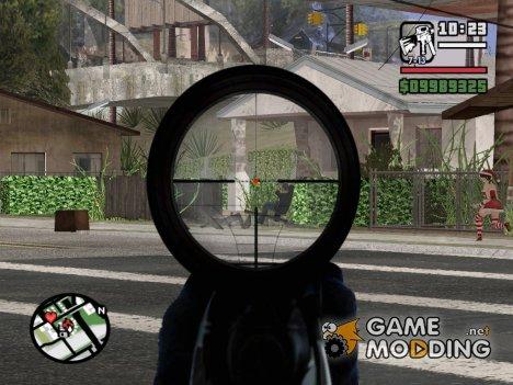 M4 Sniper MOD для GTA San Andreas
