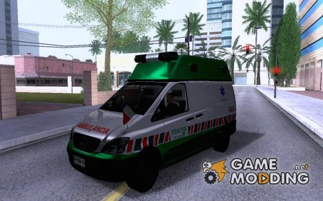 Mercedes Benz Vito Ambulancia ACHS 2012 для GTA San Andreas