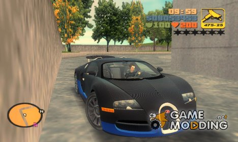 Bugatti Veyron 16.4 Carbon Custom for GTA 3