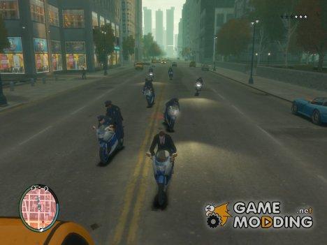 Копы на мотоциклах for GTA 4