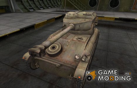 Пустынный французкий скин для AMX 12t for World of Tanks