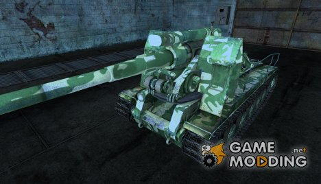 "Шкурка для С-51 ""Winter Green"" for World of Tanks"