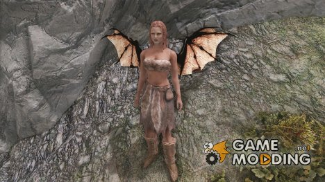Wearable Dragon Wings Unfolded for TES V Skyrim