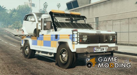 Land Rover Defender Recovery Truck (with car) для GTA 5