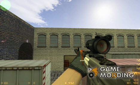 Hacked Ak-47 on ImBrokeRU anims v.2 for Counter-Strike 1.6