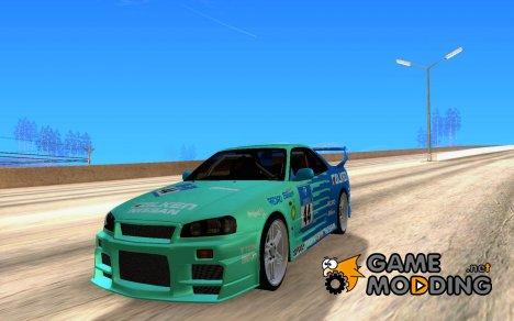 Nissan Skyline R34 D1GP Falken для GTA San Andreas