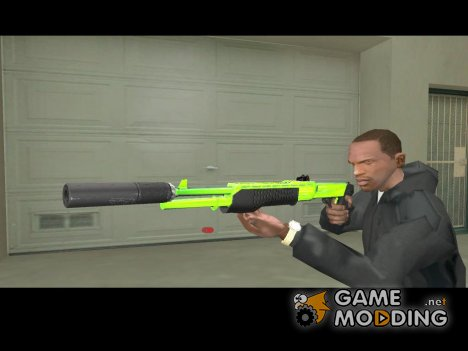 SPAS chrome green для GTA San Andreas