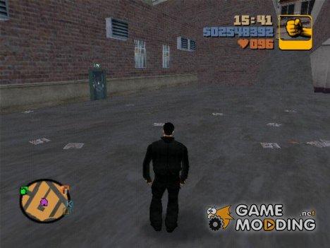 Клод в костюме for GTA 3