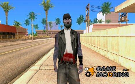 Zombie Skin - bikera for GTA San Andreas