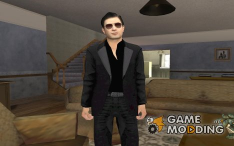Vito's Black Made Man Suit from Mafia II для GTA San Andreas