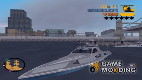 Полицейский катер HQ for GTA 3