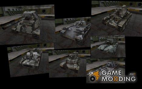 Камуфляж для немецких танков v2 для World of Tanks