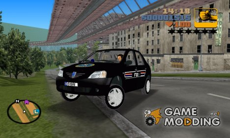 Dacia Logan FBI для GTA 3
