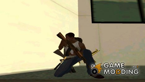Пак Gold guns's by Mistikill'a для GTA San Andreas
