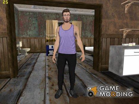 Skin HD GTA V Online парень с белыми глазами для GTA San Andreas
