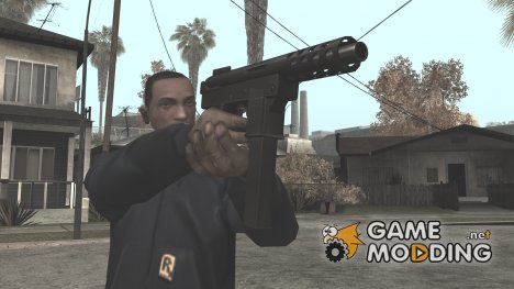 HD Tec9 (With HQ Original Icon) для GTA San Andreas