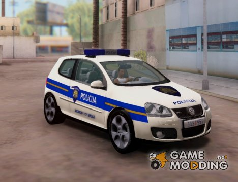 Golf V - Croatian Police Car для GTA San Andreas