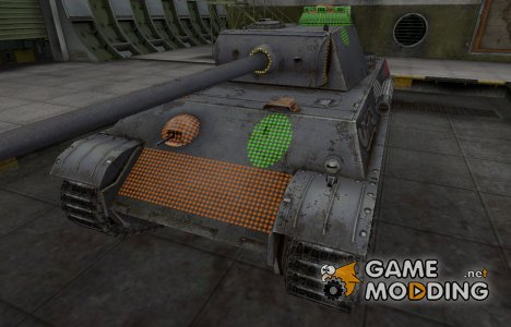 Зона пробития PzKpfw V Panther for World of Tanks