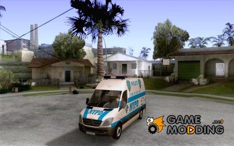 Mercedes Benz Sprinter NYPD police for GTA San Andreas