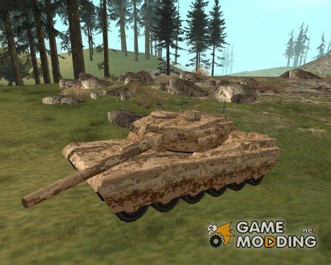 Новый пустынный камуфляж для танка for GTA San Andreas