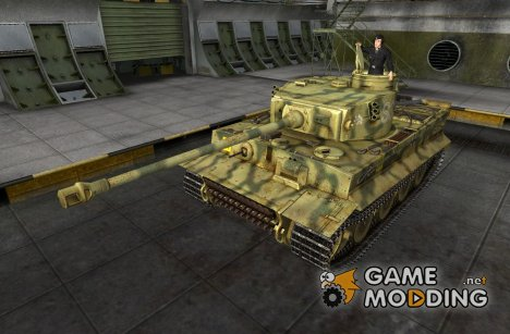 Ремоделинг для Pz VI Tiger I со шкуркой для World of Tanks