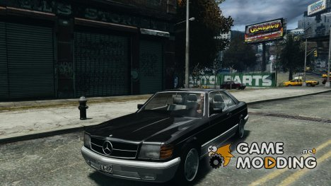 Mercedes-Benz w126 560SEC for GTA 4