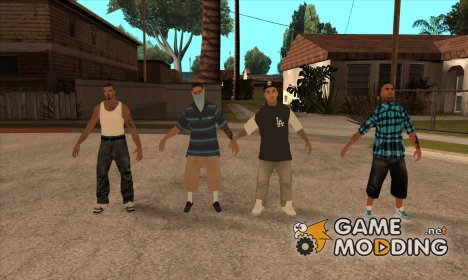 Varios Los Aztecas Gang Pack for GTA San Andreas