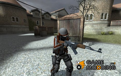 Red and White Counter-Terrorist для Counter-Strike Source