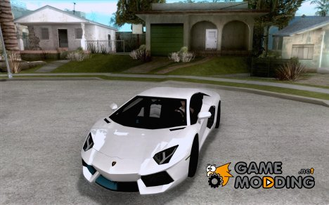 Покрасочные работы для Lamborghini Aventador LP700-4 2011 for GTA San Andreas