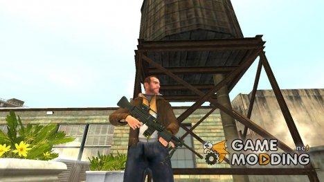 Ручной пулемёт HK MG4 for GTA 4