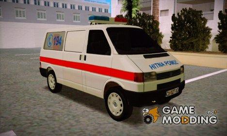 Volkswagen T4 Kola Hitne Pomoći для GTA San Andreas